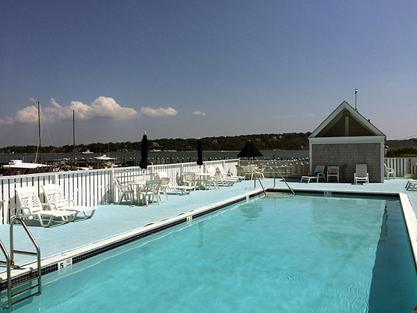 Private Pool, 27 Oyster Point, Vacation Rental Condo Greenport, Long Island, New York, 11944